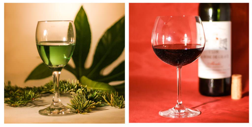 Vert en verre et verre de Rouge - Jacques Grezis